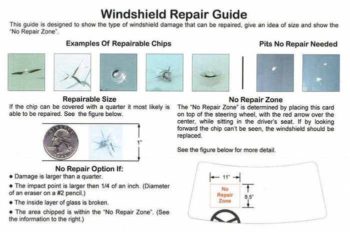 Whindshiled chip repair in Prescott by Able Auto Glass